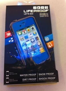 New Navy Dark Blue LifeProof Water Shockproof Case for iPhone 4S 4