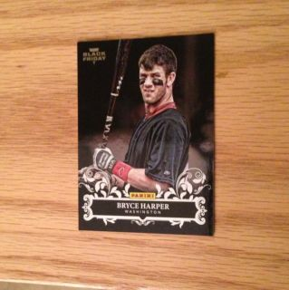 2012 Panini Black Friday Bryce Harper RC Foil SP Nationals Exclusive