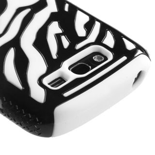 Samsung Galaxy S Blaze 4G T769 Hybrid Case Cover Black Zebra/ White