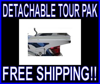 MOTHERWELL 2 UP DETACHABLE CHROME LOCKING TOUR PAK RACK 09 & UP HARLEY