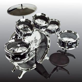 Toy Drum Play Set Black 11 Pcs Children Educational Musical Instrument