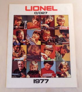 Vintage Lionel Model Railroad Catalog 1977 RR Trains Accessories O