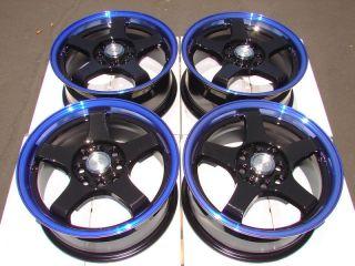 Blue Wheels Kia Rio Sephia Versa Cube Tercel Fit ZX2 4 Lug Rims