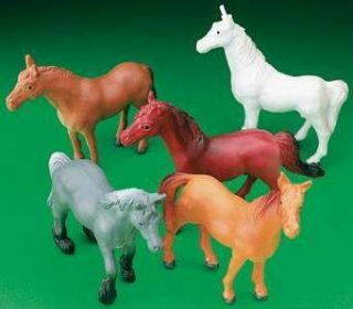 12 Horse Pony Figures Kids Birthday Party Favors Cake Toppers Dozen