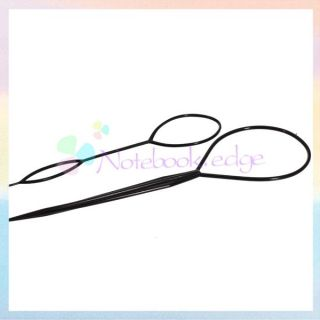 Tail Hair Braid Ponytail Styling Maker Tool Lady Party Black