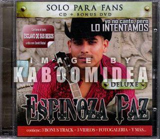 CD DVD Espinoza Paz Yo No CANTO Pero Edicion Para Fans New Imported
