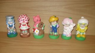 Ceramic Strawberry Shortcake Figures Blueberry Muffin Huckleberry Pie