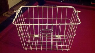 Bell Brand Coated Wire Front Bicycle Bike Basket Yard Decor Cleaning