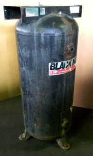 Black Max 60 Gallon Vertical Air Compressor Storage Tank