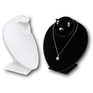 Combination Necklace Earring Ring Display Bust Black or White