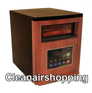 Black Oak Finish Lifesmart 800 Sq ft Quartz Infrared Heater 1500 Watt