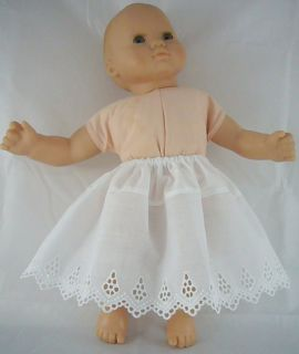 Doll Clothes Fits Bitty Baby Beautiful Eyelet Lace Half Slip Flat Rate