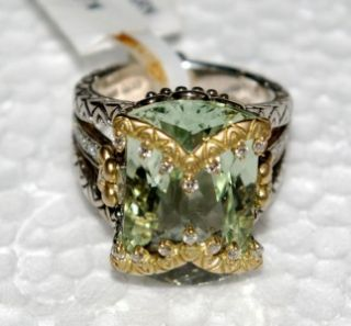 Barbara Bixby Couture Green Amethyst Diamond Jyoti Ring