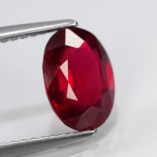 27ct 9x7mm Oval Top Stunning Pigeon Blood Red Ruby Madagascar