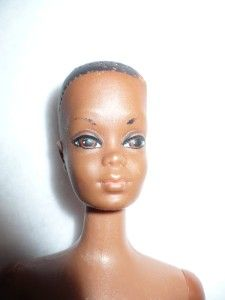 vintage mattel black barbie doll marked 1966