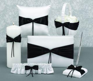 Black White Wedding Ceramony Kit Basket Pillow GB Pen Etc