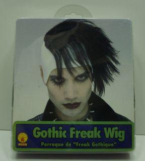 White Black Emo Gothic Freak Marilyn Manson Vampire Wig