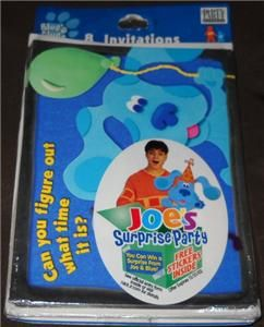 New Blues Clues Birthday Party Invitations 8 Pack Party Express 2002