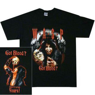 WASP Blackie Lawless GOT BLOOD Official T SHIRT M L XL Metal