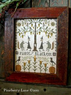 Fancey Blackett The Harvest Dance Sampler Cross Stitch Pineberry Lane