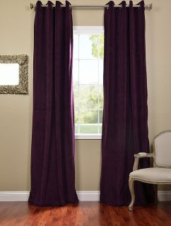 eggplant grommet velvet blackout curtains drapes luxurious affordable