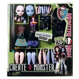 Monster High Create A Monster Vampire Sea Monster Starter Pack NIP New