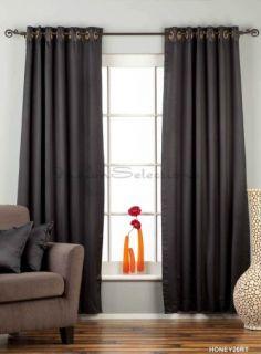 Black Ring Grommet Top 90 Blackout Curtain Drape Panel Custom Made