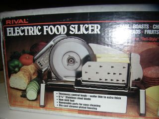 Rival Electric Food Slicer ~ Model 1101E ~ Meat Slicer ~ Veggie