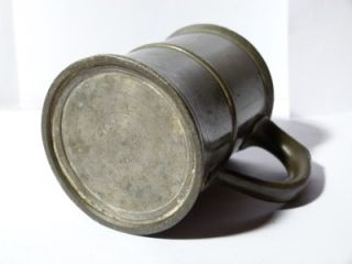 Antique Pewter J Blain Carlisle Half Pint Tankard Measure ER 392 42