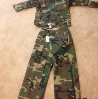 US ARMY USMC USAF BDU WOODLAND CAMO GORETEX ECWCS PARKA PANTS MILITARY