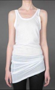 Long Tank Top Tshirt Shirt Dress Sz 40 8 M Blanche