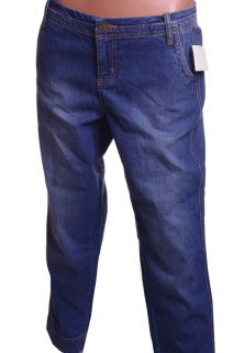 Womens Denim Faded Blue Jeans Capri Cropped Short Pants Size 11 12