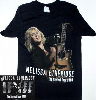Melissa Etheridge 2008 Revival Tour Graphic Black Small T Shirt New