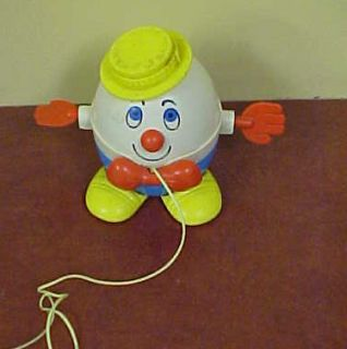 Vintage Fisher Price Humpty Dumpty Pull Toy