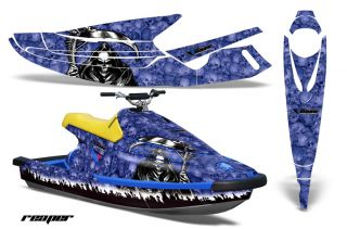 JET SKI GRAPHIC KIT WRAP YAMAHA WAVE BLASTER PART JETSKI 93 96 REAPER