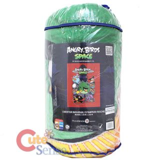 Rovio Angry Birds Space Plush Mink Blanket Twin Bedding 1