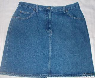Womens Bill Blass Denim Skirt Size 16