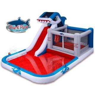 Blast Zone Shark Park Water Slide and Bounce House
