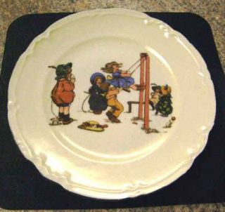 1930s Children at Play Plate by Blenheim China Germany
