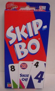 Mattel Skip Bo Card Game Ages 7 and Up New