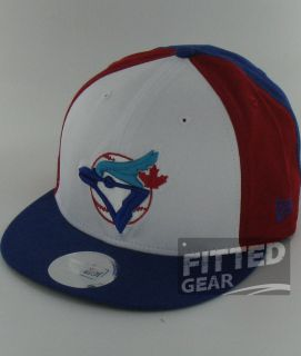Jays Block Red White Blue New Era 9Fifty Snapback Hats Caps
