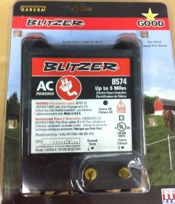 Blitzer Hot Spark Electric Fence Model 8555a 20 Miles 110