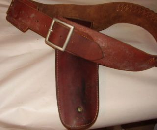 Vintage Hunter Western Cowboy Leather Holster 18 with Belt