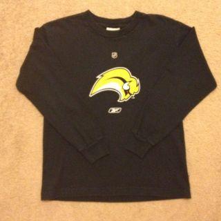 Youth NHL Reebok Buffalo Sabres Hockey Long Sleeve Shirt Size Large