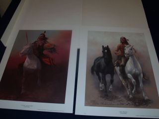 Chuck Dehaan The Prideful Ones Indian painting Horse Lot of 2 Bundle