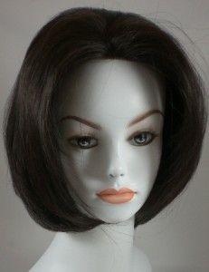Darkest Brown Short Straight Bob Style Human Hair Wig