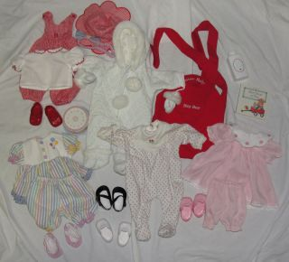 American Girl 15 Bitty Baby Doll Clothes Bloomers Shoes Lot 6 Outfits