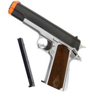 HFC 1911 Semi Auto Gas Non Blowback Airsoft Pistol Gun w Extra