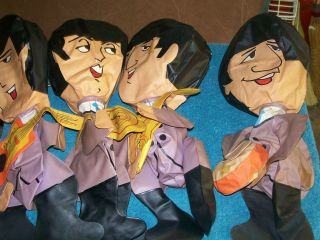 Original 1964 Beatles Blow Up Doll Set of 4