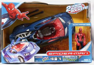 Spiderman Spider Man Spider XR 1 Battle Car Blue